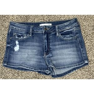 BUCkle Klique B. Distressed Denim Shorts Size 27